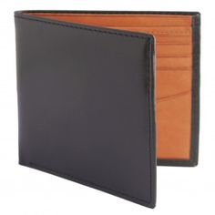 The Estados Black and tan handmade leather wallet is crafted in Argentina from the finest soft Argentine leather. Billfold Wallet, Card Wallet, Luxury Gifts For Men, Handmade Leather Wallet, Leather Accessories, Black And Brown, Card Holder, Men's Wallets, Smooth
