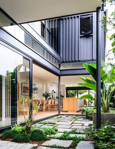 Australian Architecture, Australian Homes, Internal Courtyard, Indoor Courtyard, Courtyard House, Interior Design Awards, Glass Facades, Front Rooms, The Design Files