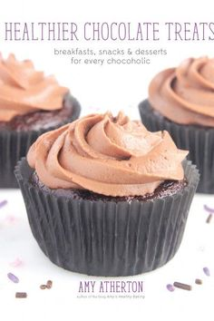 Healthier Chocolate Treats: Breakfasts, Snacks & Desserts for Every Chocoholic Pumpkin Chocolate Chips, Chocolate Chip Oatmeal, Chocolate Treats, Healthy Chocolate, Chocolate Frosting, Chocolate Lovers, Hot Chocolate, Healthy Carrot Cakes, Healthy Pumpkin