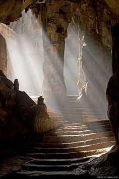Khao Luang Cave, Phetchaburi, Thailand. Photographer unknown.... Can I just live in this cave?