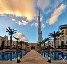 A great view of Burj Khalifa and downtown Dubai...