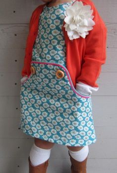 Cute kids dress sewing pattern! If you love making things for kids and baby, check out http://www.sewinlove.com.au/category/kids/