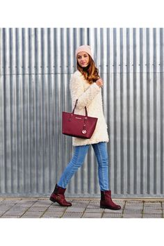 In love with maroon this winter!
