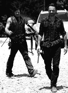 Rick & Daryl from the walking dead <3