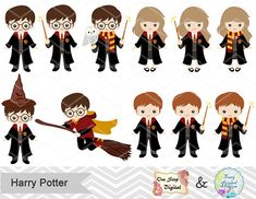 Digitale Assistenten Kinder ClipArt sofortigen Download Harry Harry Potter Clip Art, Harry Potter Thema, Classe Harry Potter, Cumpleaños Harry Potter, Harry Potter Images, Harry Potter Drawings, Harry Potter Birthday, Imprimibles Harry Potter, Kawaii Doodles