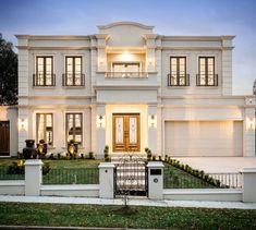 54 the best classic exterior design ideas luxury look 10 Classic House Exterior, Modern Exterior House Designs, Classic House Design, Dream House Exterior, Dream Home Design, Modern House Plans, Modern House Design, Exterior Design, House Outside Design