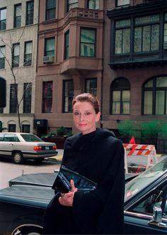 "timelessaudrey: ""Audrey Hepburn on the streets of New York, 1990. """