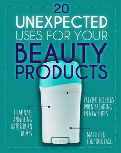 20 Uses For Beauty Products