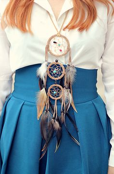 love dreamcatcher necklaces