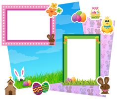Download this Happy Easter Scrapbooking Kit and other free printables from MyScrapNook.com
