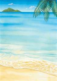 Beach Letterhead Paper, Stationery Paper, Wedding Stationery, Letterhead Design, Tropical Pool, Tropical Party, Luau Invitations, Invitation Cards, Beach Scenes