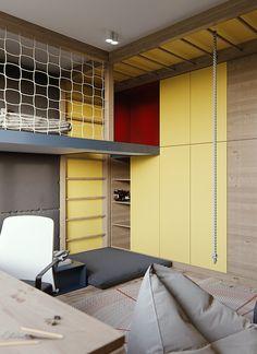 Best Ideas Kids Bedroom Yellow And Blue Teen Bedroom Designs, Boys Bedroom Decor, Home Design Living Room, Kids Room Design, Urban Apartment, Cool Kids Rooms, Teenage Room, Loft Spaces, White Rooms