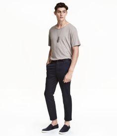 Slim Cropped Chinos | Dark blue | Men | H&M PH