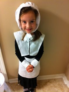 How to sew pilgrim costumes for less than 5 includes collar made this for my granddaughter last year easy pilgrim costume for school solutioingenieria Image collections