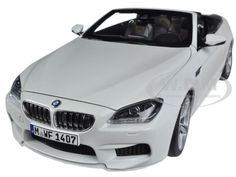 BMW M6 F12M CONVERTIBLE ALPINE WHITE 1/18 DIECAST CAR MODEL BY PARAGON