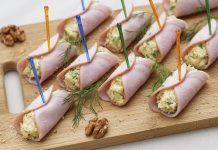 Idei pentru umplerea rulourilor din sunca presata Fresh Rolls, Fondant, Sushi, Ethnic Recipes, Food, Appetizers, Salads, Essen, Meals