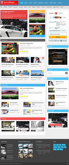 The website has been designed for a online news portal that provide ...