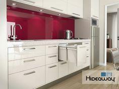 Hideaway double bins, kitchen application