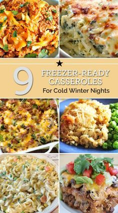 9 Freezer Casseroles for Cold Winter Nights 9 Freezer-Ready Casseroles for Cold Winter Nights Cheesy Ham, Chicken and Wild Rice Casserole Freeze Ahead Meals, Best Freezer Meals, Freezer Friendly Meals, Freezer Cooking, One Pot Meals, Quick Meals, Freezer Recipes, Meals That Freeze Well, Freezer Dinner