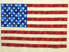 American flag quilt. Super easy pattern