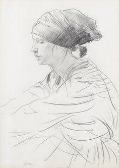Augustus John ~ Seated Woman (pencil)