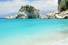 White cliffs and blue waters, Pasqyrat, Albania
