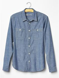 Chambray iconic worker shirt | Gap