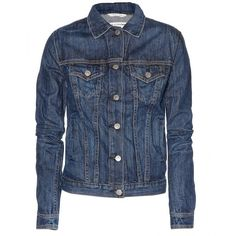 The Jean Denim Jacket ($381) ❤ liked on Polyvore featuring outerwear, jackets, coats & jackets, coats, denim, medium indigo, blue jackets, rag bone jacket, blue jean jacket and distressed jacket