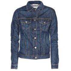 The Jean Denim Jacket ($381) ❤ liked on Polyvore featuring outerwear, jackets, coats & jackets, coats, denim, medium indigo, blue jackets, rag bone jacket, blue jean jacket and distressed jacket
