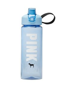 From backpacks to slides and more, shop all of our Accessories. Only at PINK. Pink Water Bottle, Cute Water Bottles, Water Bottle Design, School Locker Organization, School Water Bottles, Gym Accessories, Blender Bottle, Cute Cups, Cute School Supplies