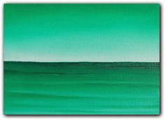 Green Sea Seascape Modern Art Waterscape Oil Painting by BingArt, $29.95