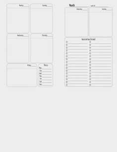 Sparkle Frogs: Free Printable - Week on Two Pages (for Franklin Covey Compact size)