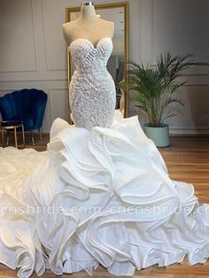 Apr 2020 - onlybridals Chapel Train Mermaid Wedding Dresses Sweetheart Beads Crys – The Only Love Wedding Dress Mermaid Wedding Dress With Sleeves, Wedding Dress Chiffon, Sweetheart Wedding Dress, Sexy Wedding Dresses, Mermaid Dresses, Cheap Wedding Dress, Mermaid Sweetheart, Lace Wedding, Wedding Gowns