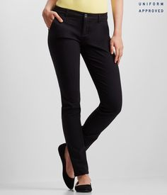 Skinny Twill Pants - Great look for work or school.