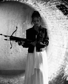 She can use a cross bow too....if that isn't too advanced...Shannon?