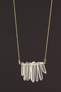 Crystal Dagger Necklace #jewelrydesign