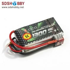 Gens ACE New Design High Quality 1300mAh 25C 3S 11.1V Lipo Battery with T Plug