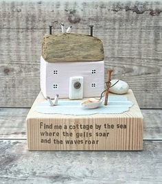 Check out this item in my Etsy shop https://www.etsy.com/uk/listing/522281426/coastal-cottage-wood-house-driftwood-art