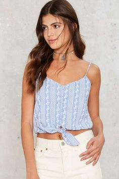 Blue Skies Crop Top