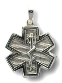 EMS Jewelry:  Star of Life Sterling Silver Pendant