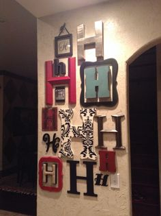 my initial wall something different that is easy and adds a fun look to a - Letter Wall Decor