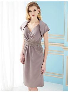 Adelaide Elegant Knee-Length Shealth Sweetheart Sleeveless Strapless Mother of the Bride Dress