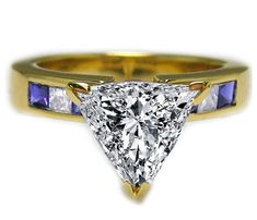 Trillion Diamond Engagement Ring