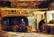 "New artwork for sale! - "" Cottage Interior 1840 by David Cox "" - http://ift.tt/2idVfGt"