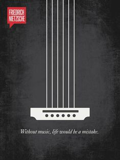 I just can't live without #music   Inspiring Famous Quotes Illustrated With Minimalistic Posters | Bored Panda