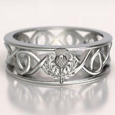 Celtic Scottish Thistle Ring, Infinity Ring, Scottish Thistle Jewelry, Scottish…