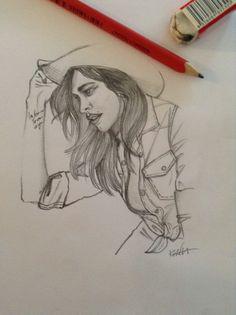 Belen Rodriguez-pencil