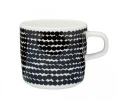 Marimekko Oiva Räsymatto schwarz weiß Tasse 0,2 l, 17,50€