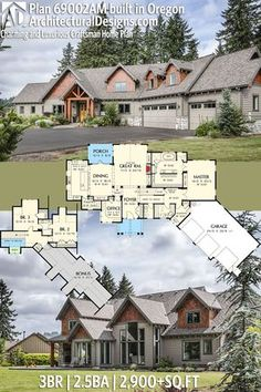 Architectural Designs House Plan 69002AM built with modifications in Oregon. 3BR | 2.5BA | 2,900+SQ.FT. | Ready when you are. Where do YOU want to build? #69002am #adhouseplans #architecturaldesigns #houseplan #architecture #newhome #newconstruction #newhouse #homedesign #dreamhome #dreamhouse #homeplan #architecture #architect #craftsmanhouse #craftsmanplan #craftsmanhome
