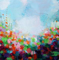 """Saatchi Online Artist: Sandy Dooley; Acrylic 2014 Painting """"Purple And Green (not for sale)"""""""